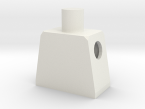 Minifig Body in White Natural Versatile Plastic