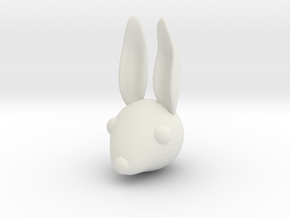 rabbithead4 in White Natural Versatile Plastic