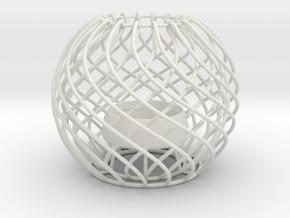Tea Light 2 in White Natural Versatile Plastic
