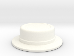 Straw Boater (tbn) in White Strong & Flexible Polished