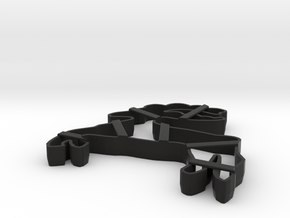 gingerbread cake form cookie cutter in Black Strong & Flexible
