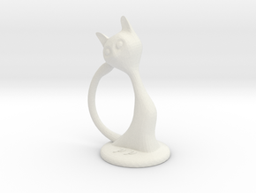 She cat Peter Paul in White Natural Versatile Plastic