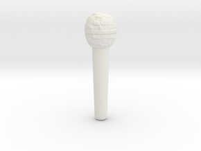 Microphone in White Natural Versatile Plastic