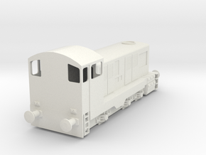 CIE E Class 421 OO Scale in White Natural Versatile Plastic