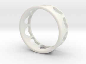 heart ring in White Strong & Flexible