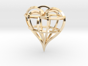 Heart of love in 14K Yellow Gold