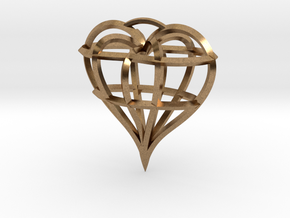 Heart of love in Natural Brass