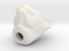 Cat Head jewel in White Natural Versatile Plastic