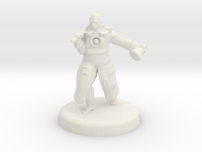 Hakeem (Human battle cleric) in White Natural Versatile Plastic