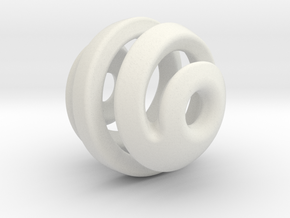 sphere spiral 16mm in White Strong & Flexible