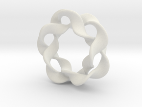 Interlocked waves in White Natural Versatile Plastic
