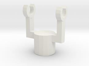 Swivel Holder in White Natural Versatile Plastic