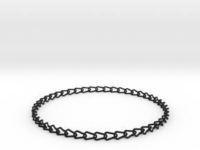 Larger printable bracelet in Black Strong & Flexible