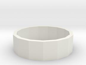 Ring inch in White Natural Versatile Plastic