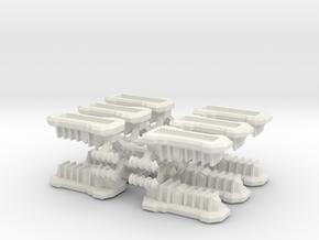 Gothic Hover APC x12 in White Natural Versatile Plastic