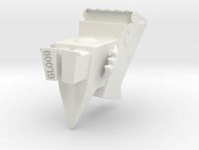 Cutzilla large-size in White Natural Versatile Plastic