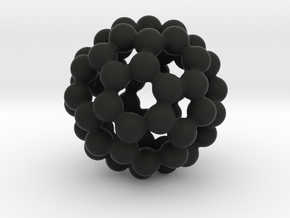 C60 - Buckyball - L in Black Strong & Flexible