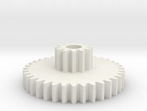 twin spur gear in White Strong & Flexible