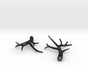 Twiggy Earrings in Polished Grey Steel