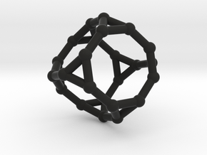 Truncated cube in Black Strong & Flexible