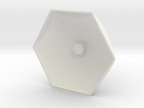 Big Hex Base in White Natural Versatile Plastic
