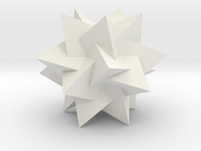 Compound of 5 Tetrahedra2 in White Natural Versatile Plastic
