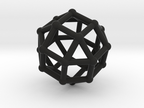 Rhombicuboctahedron in Black Strong & Flexible