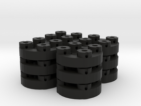 Sewable Disc Buttons (12 Pack) in Black Natural Versatile Plastic