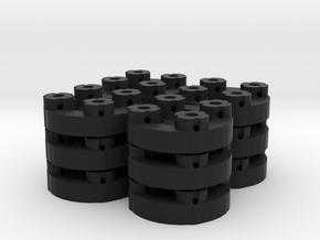 Sewable Disc Buttons (12 Pack) in Black Natural Versatile Plastic