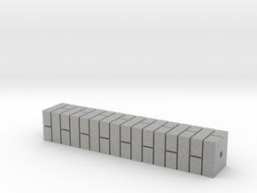 7mm Single Brick Pier in Metallic Plastic