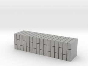 7mm Scale Double Brick Pier in Metallic Plastic
