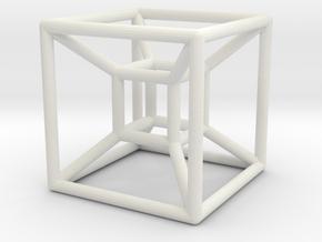 HyperCube 4D in White Natural Versatile Plastic