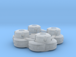 Clover Connector - Ornamental in Smooth Fine Detail Plastic