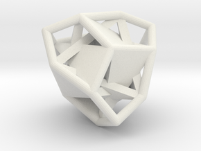d12 tetartoid blank in White Natural Versatile Plastic