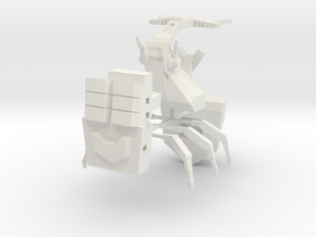 Barrage Beetle in White Natural Versatile Plastic