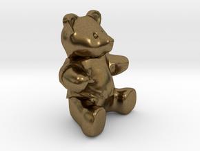 Nounours - Teddy Bear in Natural Bronze
