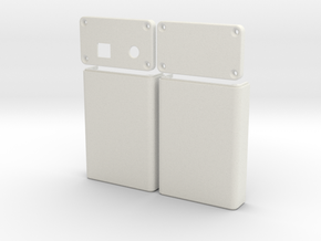 Arduino Case in White Natural Versatile Plastic