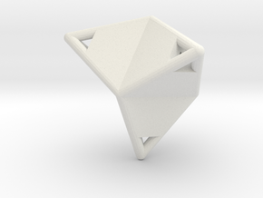 d12 caltrop blank in White Natural Versatile Plastic
