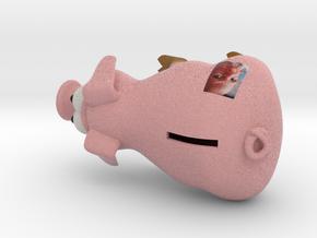 Money Pig Large in Full Color Sandstone
