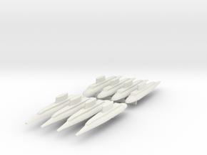 9 Patrol Submarine x8 in White Natural Versatile Plastic