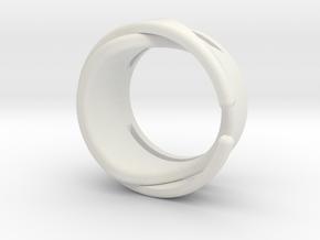 RING DESIGN in White Natural Versatile Plastic