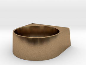 block Ring 20 in Natural Brass