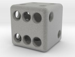 Balanced Hollow Dice (D6) (1.5cm) (Method 1) in Metallic Plastic