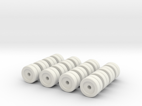 Zscale Dual Wheels in White Strong & Flexible