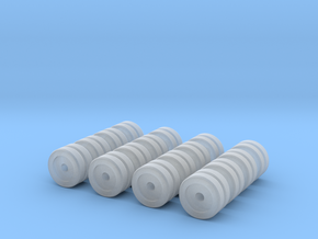 Zscale Dual Wheels in Smooth Fine Detail Plastic