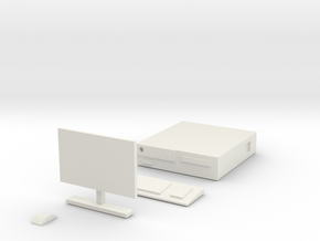 1/10 Scale Personal Computer in White Natural Versatile Plastic