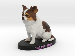 Custom Dog Figurine - Sapphire in Full Color Sandstone