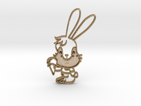 Yum Bunny Pendant in Polished Gold Steel