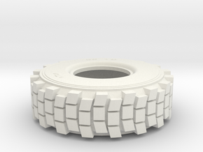 TIRE, HEMTT, 1/24th SCALE in White Natural Versatile Plastic