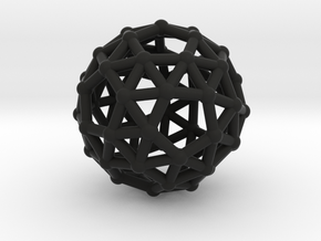 Snub dodecahedron in Black Strong & Flexible
